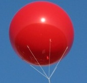 8ft. helium advertising balloon